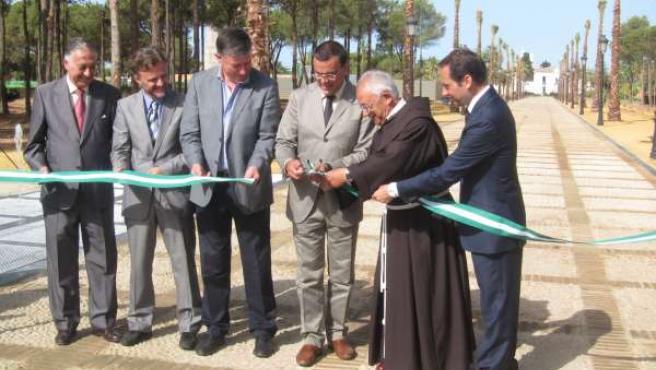 Inaguración de las obras de la primera fase de La Rábida (Huelva).