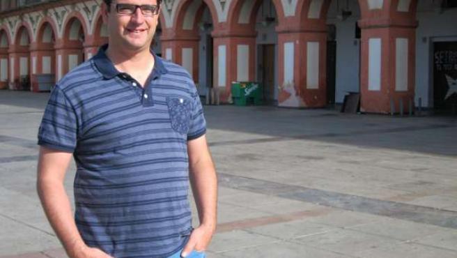 El coordinador provincial de IU y candidato a la Alcaldía, Pedro García
