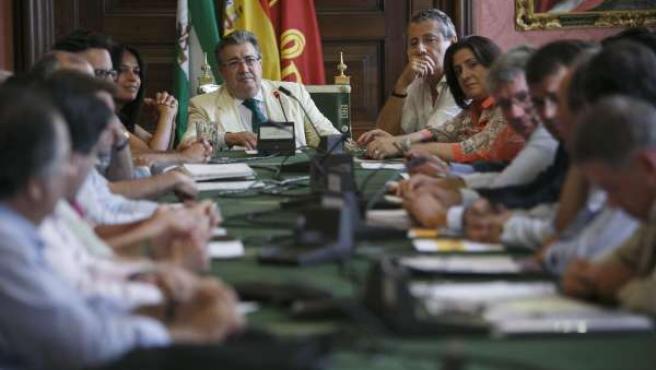 Zoido durante la reunión