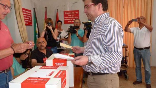Vara vota en Olivenza para elegir al secretario general