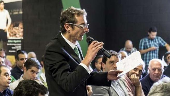 Representante de AUPA en la Junta de Accionistas del Racing de Santander