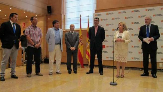 Acto de presentación de la Vuelta Ciclista a España por Aragón