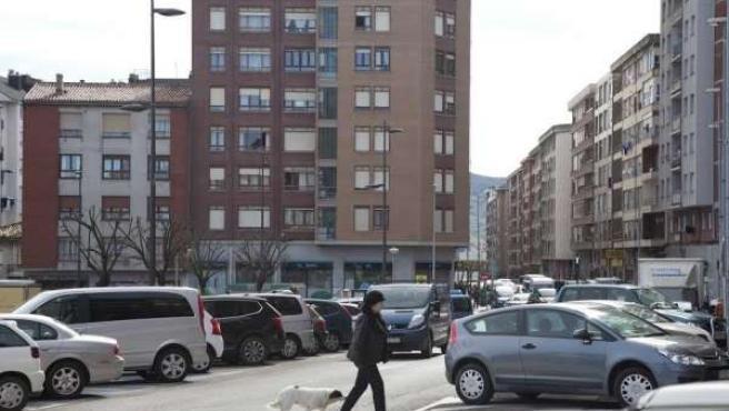 Avenida Menéndez Pelayo, en el casco urbano de Maliaño (Camargo)