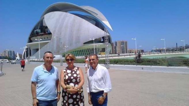 Baldoví, Pañella y Castillo en el Palau de les Arts