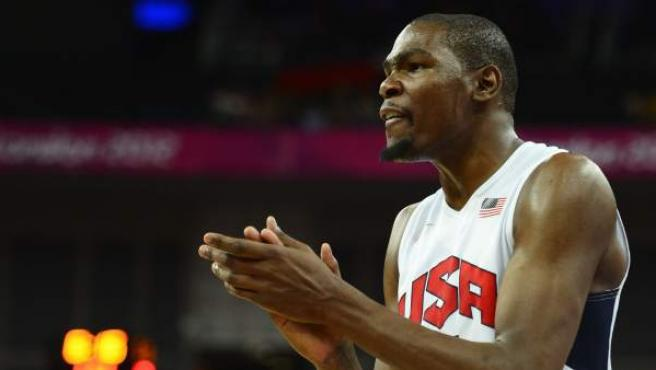 El jugador estadounidense de baloncesto, Kevin Durant, durante los Juegos Olímpicos de Londres 2012.