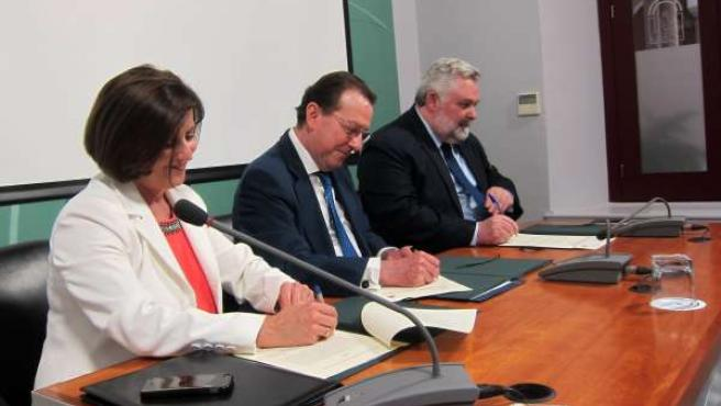 Sánchez Rubio, De Llera y García Calderón.