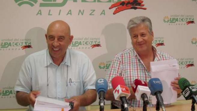 Aurelio Pérez (i) y Julio López (d), de la Alianza UPA-COAG
