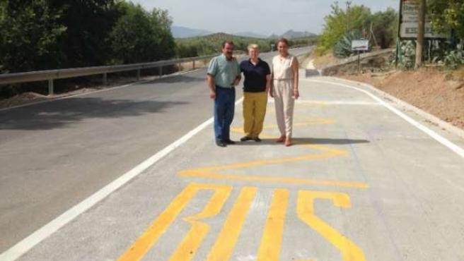 Nueva parada de autobús en la carretera al Puente Tablas de Jaén