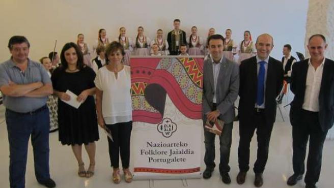 Presentación del Festival de Folklore de Portugalete