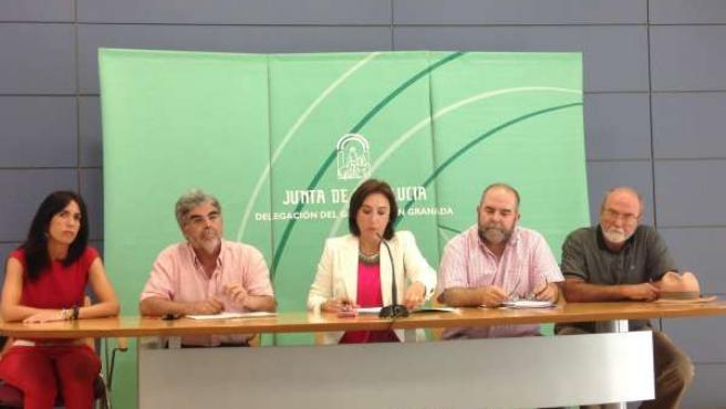 Presentación actos de memoria histórica, con Sandra García y Gil Bracero