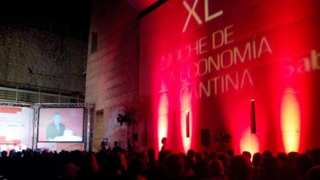 El presidente de la Generalitat, Alberto Fabra, en Elche durante su discurso