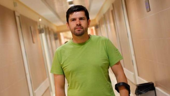 El portavoz de la Plataforma Víctimas Alvia 04155, Jesús Domínguez.