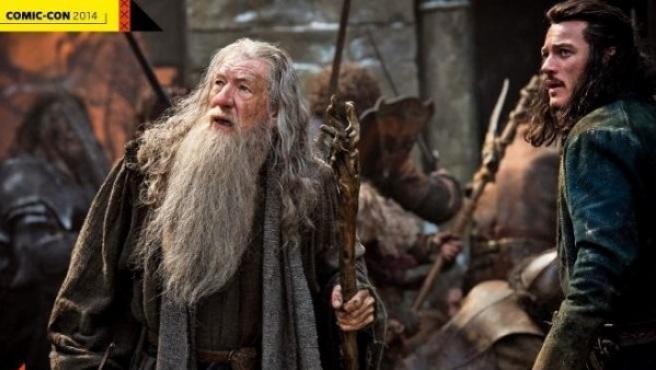 Primera imagen de la película 'El Hobbit: la batalla de los cinco ejércitos', con Gandalf y Bardo.