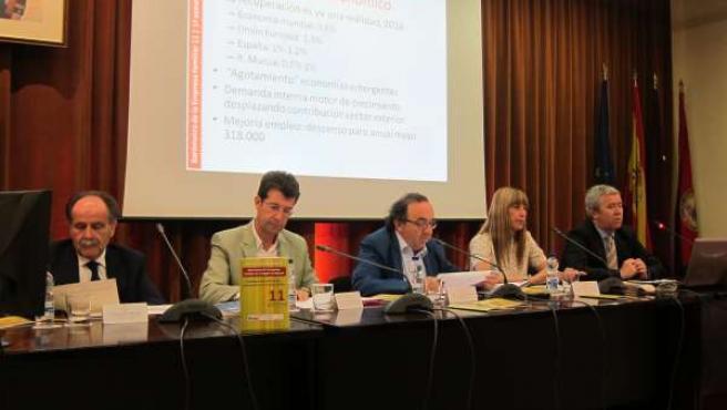 Campillo, Ruiz, Orihuela, Sánchez y Meroño durante la presentación