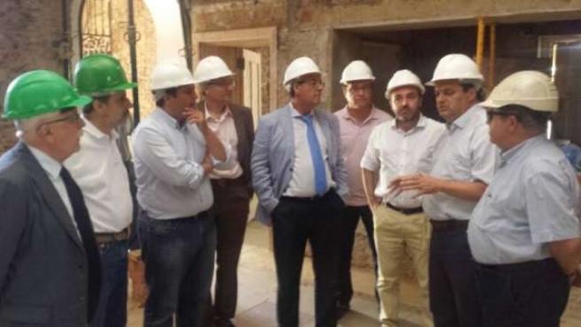 El vicepresidente de la Junta de Andalucía, Diego Valderas, en Minas de Riotinto