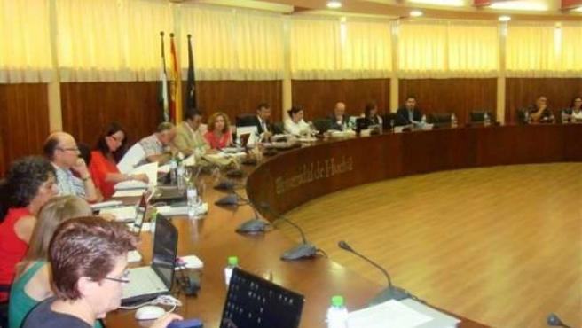 Consejo de Gobierno de la Universidad de Huelva.