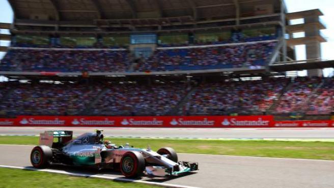 Nico Rosberg, durante el GP de Alemania.