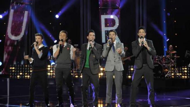 El grupo Auryn, durante una de sus actuaciones en 'Destino Eurovisión'.