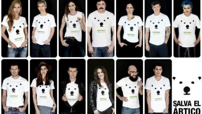 Personalidades de diversos ámbitos apoyan la campaña de Greenpeace 'Salva el Ártico'.