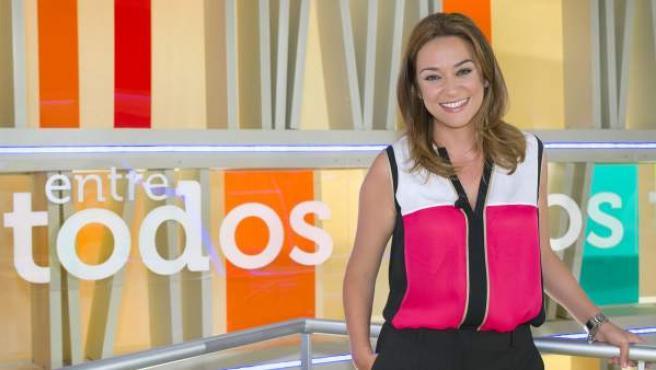 Toñi Moreno en el plató del programa 'Entre todos'.