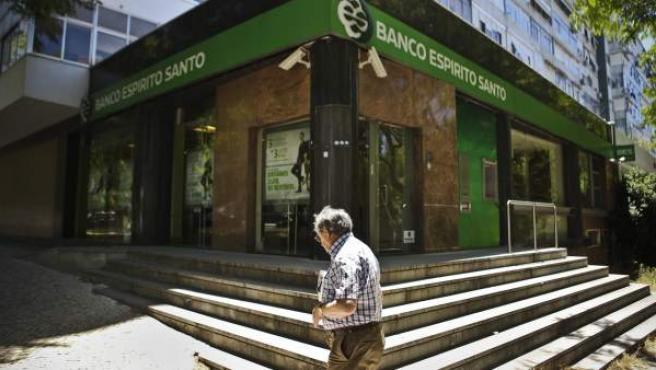 Una sucursal del Banco Espirito Santo (BES) en Lisboa (Portugal).