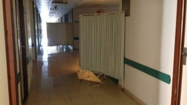 Imagen de un área sin actividad en el hospital 12 de Octubre.