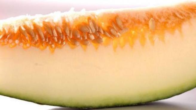 Imagen de archivo de una rodaja melón.