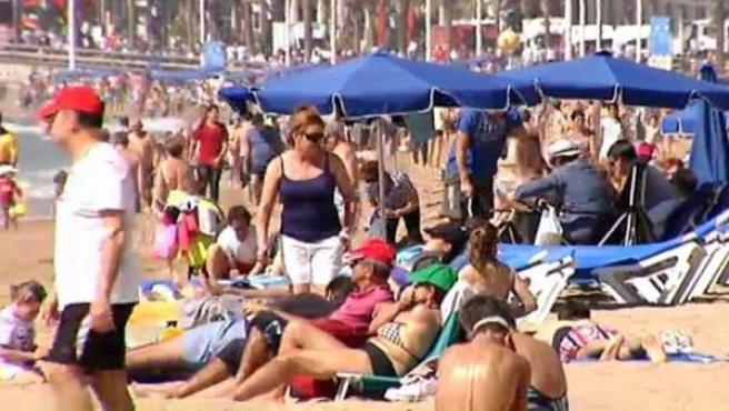 Playa de Benidorm.