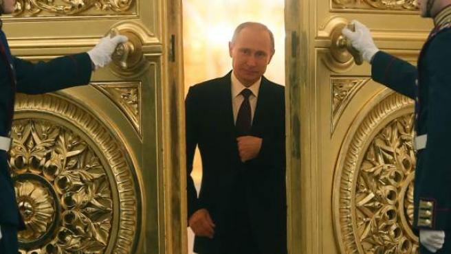 El presidente ruso, Vladimir Putin, en el Kremlin, Moscú.