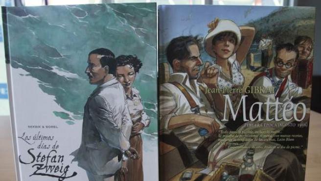 'Los últimos días de Stefan Zweig', del dibujante Guillame Sorel y Laurent Seksik (derecha) 'Mattéo', de Jean Pierre Gibrat (izquierda)