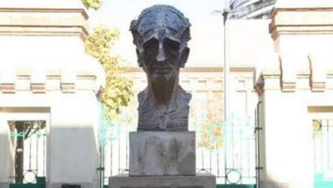Imagen de archivo del busto de Lluís Companys.