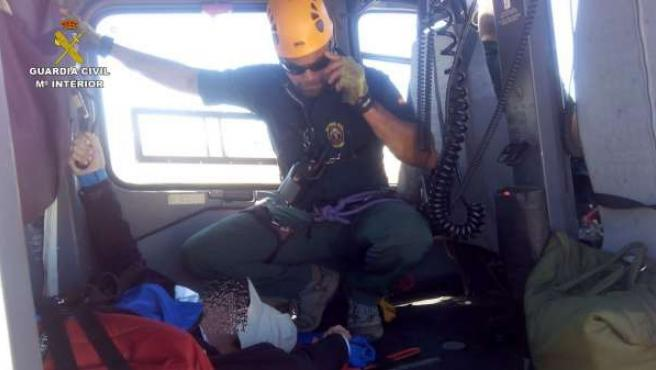Rescate de un romero en Sierra Nevada