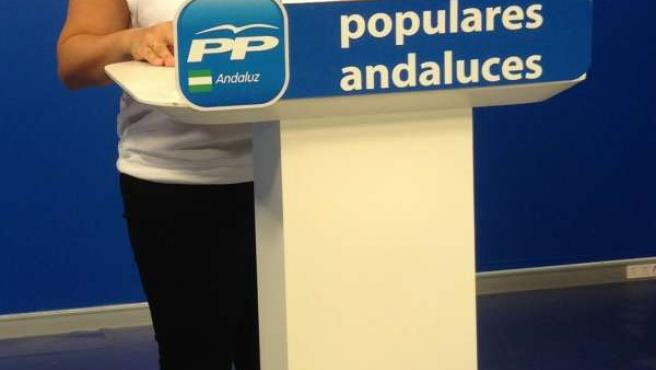 La vicesecretaria general del PP andaluz, Virginia Pérez