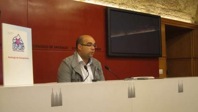 El portavoz del BNG de Santiago, Rubén Cela
