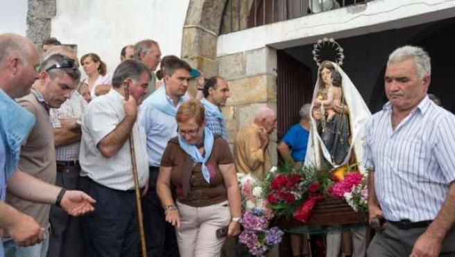 Festividad de Virgen de las Nieves en Guriezo