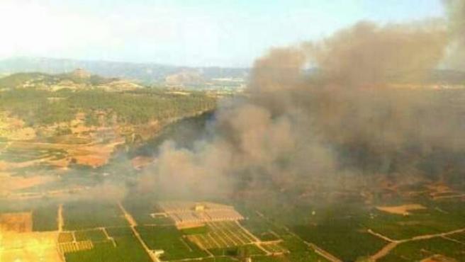 Incendio declarado en Sellent