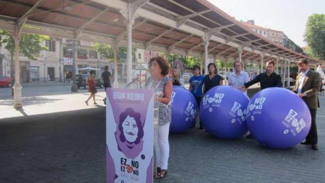 Campaña contra las agresiones sexistas en Bilbao.