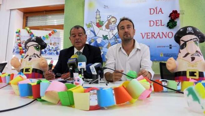 El concejal de Comercio y el presidente de la Cámara de Torrelavega