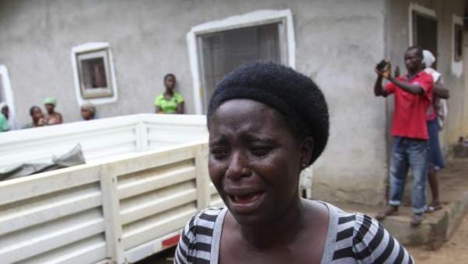 Imagen de archivo de una mujer en Liberia.