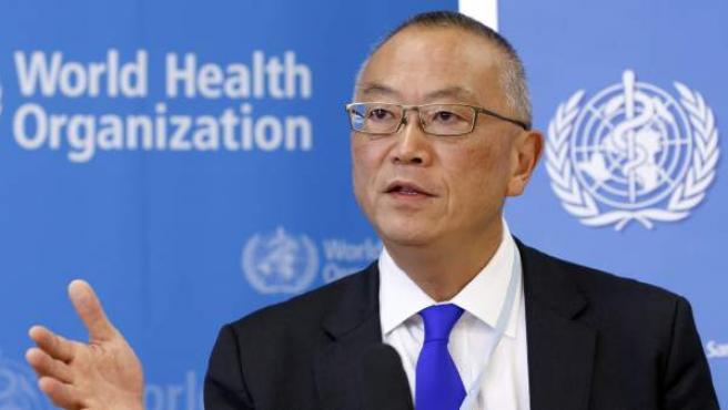 El director adjunto de la Organización Mundial de la Salud (OMS), Keiji Fukuda, ofrece una rueda de prensa en Ginebra (Suiza).
