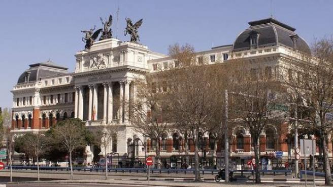 El Ministerio de Agricultura, Alimentación y Medio Ambiente en Madrid.