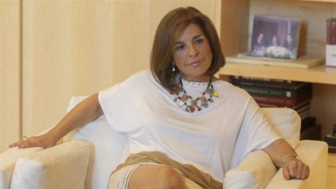 La alcaldesa de Madrid, Ana Botella, en una entrevista.