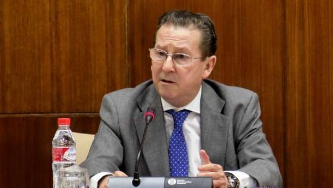 Emilio de Llera, este miércoles en el Parlamento