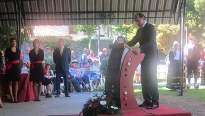 Diego en el discurso del Día de Cantabria