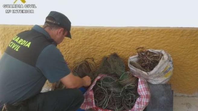 Cable de cobre intervenido en Benamejí (Córdoba)