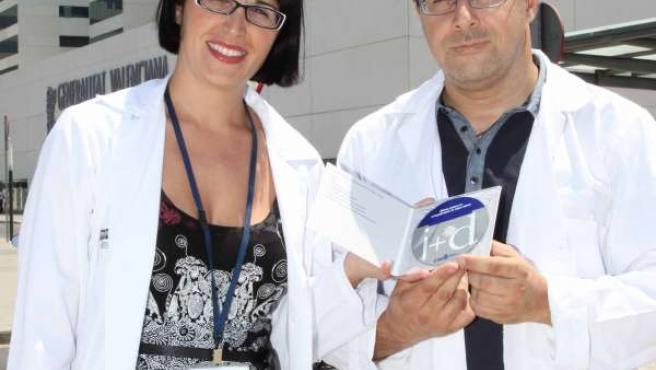 Investigadores del Hospital La Fe presentando sus avances