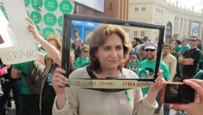 La exportavoz de la PAH e impulsora de la plataforma ciudadana Guanyem Barcelona, Ada Colau.