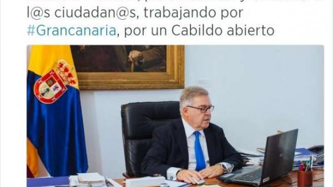 Presidente del Cabildo de Gran Canaria, José Miguel Bravo de Laguna