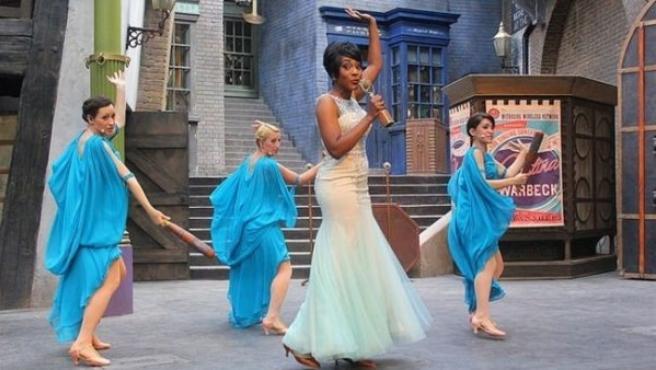 Celestina Warbeck en una interpretación del parque Harry Potter en Orlando (Estados Unidos).