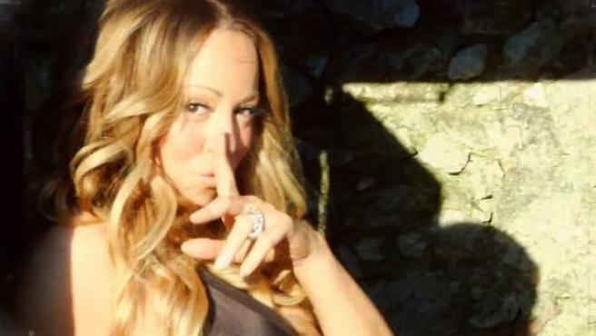 Mariah Carey en una imagen del videoclip 'Hermosa'.